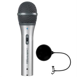 Cardioid Dynamic USB/XLR Microphone - ATR2100-USB w/ Microphone Wind Screen