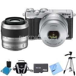1 J5 Digital Camera w/ NIKKOR 10-30mm Zoom & NIKKOR 30-110mm Lens Silver Bundle