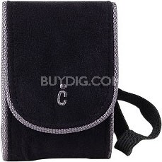 "Ultra-Compact Deluxe Carrying Case - Black (Measures 4.5"" x 3"" x 1.5"")"