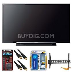 "KDL-40R450A 40"" 120Hz 1080p Black LED HDTV Wall Mount Bundle"