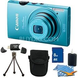 PowerShot ELPH 110 HS 16.1MP Blue Digital Camera 5x Zoom HD Video 8 GB Bundle
