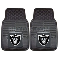NFL Oakland Raiders Vinyl Heavy Duty Car Mat - Set of Two