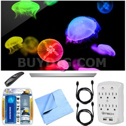 65EF9500 - 65-Inch 2160p 4K UHD Smart 3D OLED TV Essentials Bundle