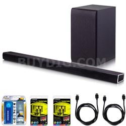SH4 2.1ch 300W Sound Bar with Wireless Subwoofer + Bluetooth Connectivity Bundle