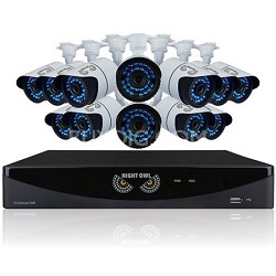 16 Channel 960H DVR with HDMI, 1 TB HDD, 12x900 TVL Cameras (100ft NV)