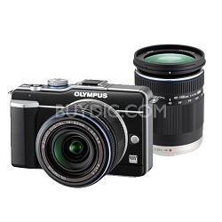 PEN E-PL1 Digital Camera - 2 Lens Kit with 14-42mm II and 40-150mm f/4.0-5.6