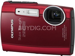 Stylus Tough 3000 Waterproof Shockproof Freezeproof Digital Camera (Red)