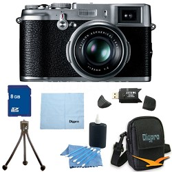 8 GB Bundle X100 12.3 MP APS-C CMOS EXR Digital Camera with 23mm Fujinon Lens