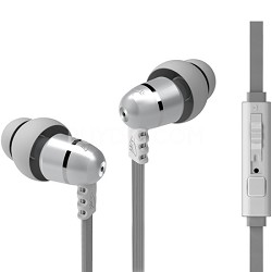 M9P Flat Cable In-Ear Headphone w/ Headset & Universal Volume Control (Pearl)