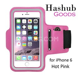 Sports Running Armband for iPhone 6/Galaxy Alpha/Sony Z3/Moto X in Hot Pink