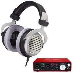 DT 990 Premium Headphones 250 OHM w/ Focusrite 2i2 USB Audio Interface
