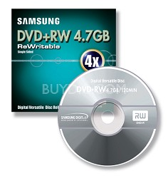 4X DVD+RW 4.7 GB 5-Pack w/ Jewel Case