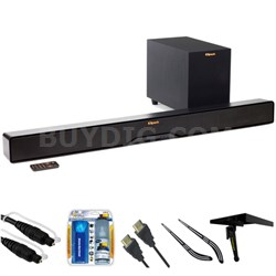 "Reference 2-Way Soundbar with Wireless 6.5"" Subwoofer R4B w/ Accessories Bundle"