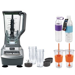 BL740 Professional Table Top 1100watt Blender-Gray w/ Copco Hydra Bottles Bundle