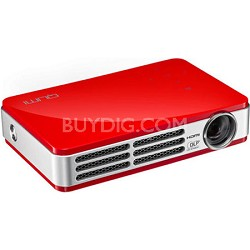 Qumi Q5 500 Lumen WXGA HD 720p 3D-Ready Pocket DLP Proj (Red) - OPEN BOX