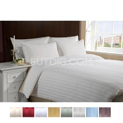 Luxury Sateen Ultra Soft 4 Piece Bed Sheet Set KING-WHITE