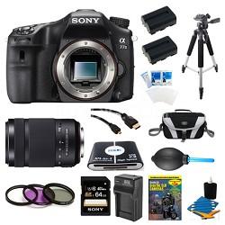 a77II HD DSLR Camera, 64GB Card, and 55-300mm Lens Bundle
