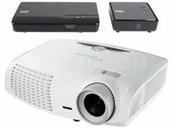 HD25-LV-WHD 1080p 3D DLP Home Theater Projector Bundle with Wireless WHD200