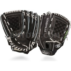 12 Inch FG Zephyr Softball Infielders Glove Left Hand Throw - Black - OPEN BOX