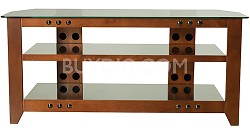 """NFV249 - Natural Three Shelf A/V Stand for TVs up to 52"""" (Cherry Finish)"""