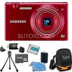 """MV800 16.1 MP 3.0"""" MultiView Red Camera 16GB Bundle"""