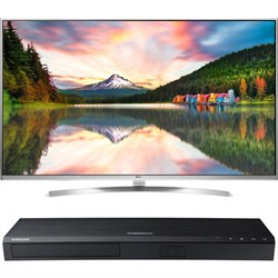55-Inch Super UHD Smart TV w/webOS 3.0+ Samsung UBD-K8500 4K UHD Blu-Ray Player