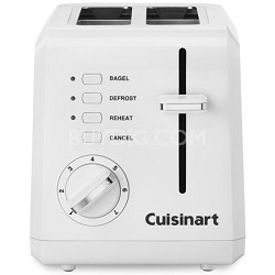 CPT-122 Compact 2-Slice Toaster (White) - Factory Refurbished