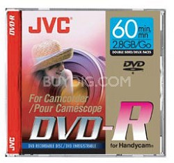 Mini DVD-R write-once Disc for DVD Camcorders  (2.8 GB - Double-sided)