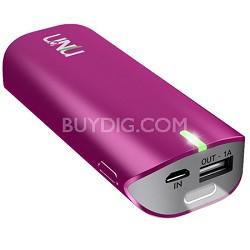 Enerpak Tube 5000mAh USB External Battery Pack Magenta