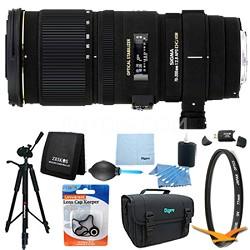 70-200mm f/2.8 APO EX DG HSM OS FLD Zoom Lens for Nikon DSLRs Lens Kit Bundle