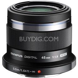 M. Zuiko Digital ED 45mm f1.8 (Black) Lens - V311030BU000