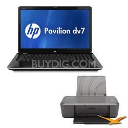"17.3"" dv7-7030us Entertainment Notebook PC - Intel   i7-3610QM - Printer Bundle"