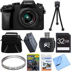 LUMIX G7 Interchangeable Lens 4K UHD DSLM Camera with 14-42mm Lens 32GB Bundle