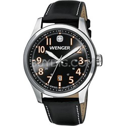 Men's Terragraph Watch - Grey Dial/Black Leather Strap