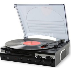JTA-230 3-Speed Stereo Turntable with Built-in Speakers and Speed Adjustment