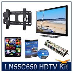 "LN55C650 - 55"" HDTV + Tilt Mount + Hook-Up + Power Protection + Calibration DVD"