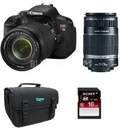 EOS Digital Rebel T4i 18MP SLR Camera 18-135 STM & 55-250 IS Bundle