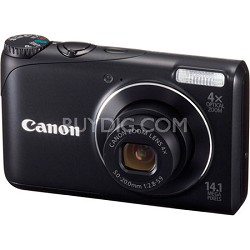 PowerShot A2200 14MP Black Digital Camera w/ 4x Zoom & 720p HD Video