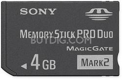 4GB Memory Stick PRO Duo  Mark 2 Media  {MS-MT4G}