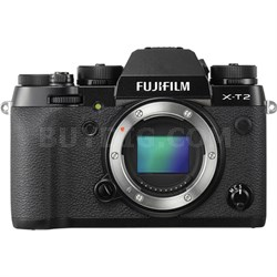 X-T2 24.3MP 4K Video OLED Viewfinder Mirrorless Digital Camera - Body Only
