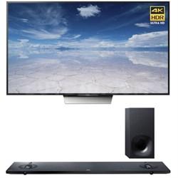 XBR-75X850D 75-Inch 4K UHD TV with Sony HTNT5 Sound Bar