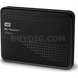 My Passport Cinema, 1 TB - Classic Black WDBZKS0010BBK-NESN - OPEN BOX