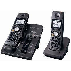 KX-TG6052B 5.8 GHz Cordless Telephone with 2 Handsets,Answering System,