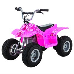 Dirt Quad Electric Four-Wheeled Off-Road Vehicle (Pink)
