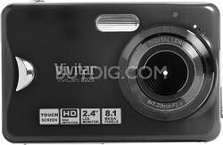 ViviCam 8025 8.1 MP HD Touch Screen Digital Camera (Black)