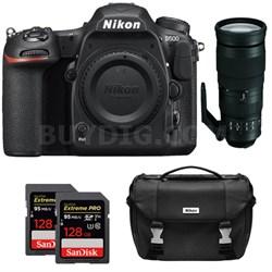 D500 CMOS DX DSLR Camera w/ 4K Video (Body) + 200-500mm ED Zoom Lens Kit