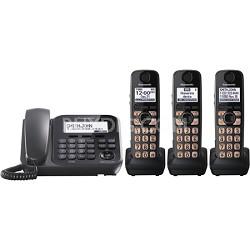 KX-TG4773B Dect 6.0 3-Handset Landline Telephone