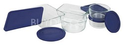 Storage 10-Piece Set, Clear with Blue Lids - OPEN BOX
