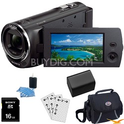 HDR-CX220/B Full HD Camcorder Essentials Bundle