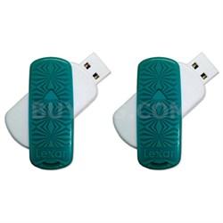 16GB JumpDrive S33 USB 3.0 Flash Drive 2-Pack - Bulk Packaged